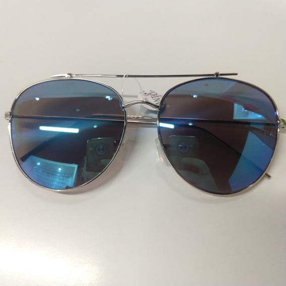 Óculos De Sol Espelhado Tipo Aviador