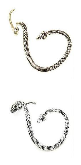 Pendiente Arete Forma Serpiente Original Y Elegante Plateado
