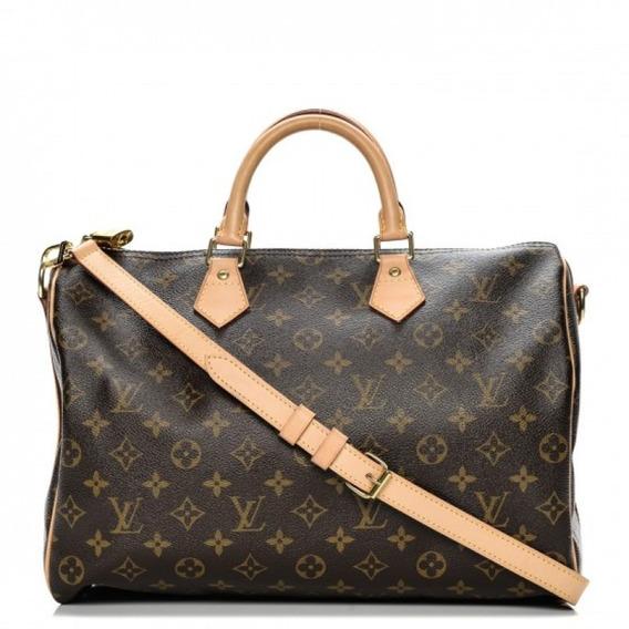 Speedy 35 Monogram Bandouliere Louis Vuitton Couro Legítimo Premium Top C/ Código Série Acompanha Alça E Dust Bag 24 Hr