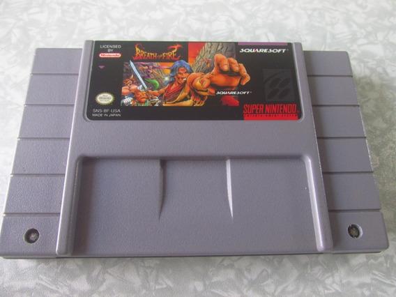 Super Nintendo - Breath Of Fire - Original - Ótimo Estado