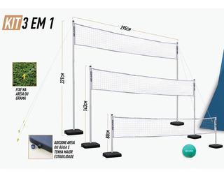 Rede De Esportes - 3 Em 1 - Gears - Pratique Net