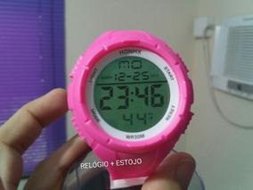 Relógio Pulso Led Feminino Digital Rosa Pink S Shock Honhx