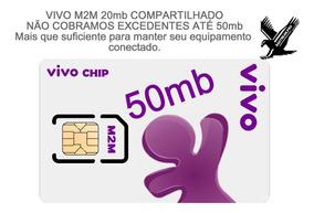 Chip M2m Vivo 20+30 = 50mb De Conexão Pronta Entrega