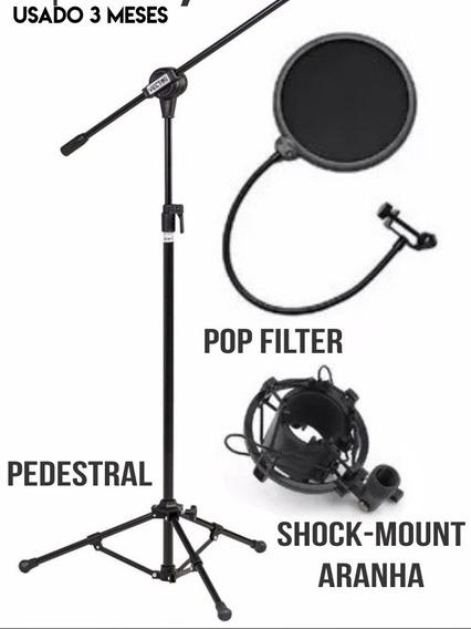 Pedestal. Aranha E Pop Filter