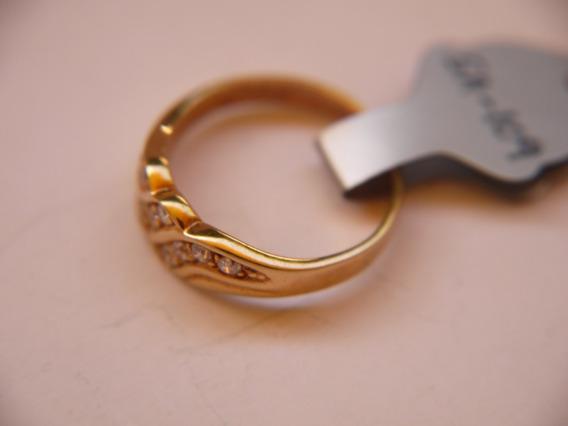 Anillo Vermeil Gp En 18k Oro Con Cubic Zirconia A109