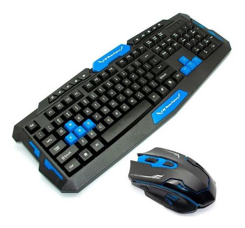 Teclado Mouse Inalambrico Gamer Hk8100 Español - Tecnomati