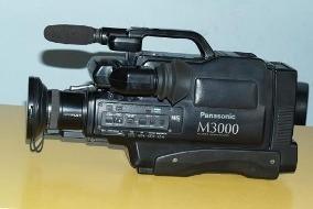 Kit 2 Filmadoras Panasonic 1 M3000 E Outra Af X8 Vhs Hq