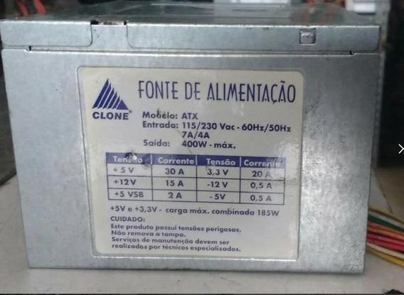 Fonte De Alimentação Clone Modelo:atx 400w-testada