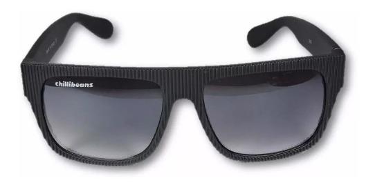 Oculos Chilli Beans Masc Uv400 Preto Fosco Polarizado