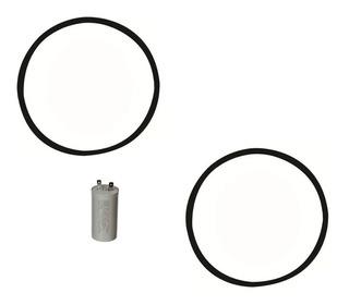 2 Correias+capacitor Lav.roupas Ge/mabe 8 10 11 12 13 15kg