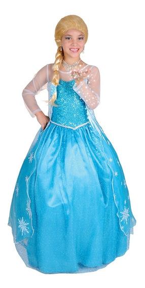 Disfraz De Frozen Niña Deluxe Carnavalito -d613