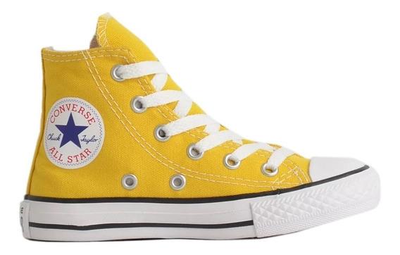 Tênis All Star Converse Infantil Bota Amarelo - Original