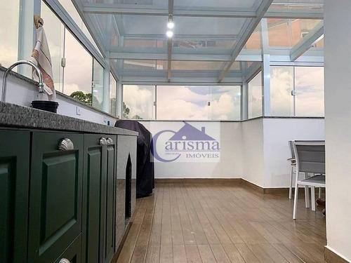 Cobertura Com 2 Dormitórios À Venda, 57 M² Por R$ 270.000,00 - Jardim Las Vegas - Santo André/sp - Co0181