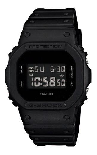 Relogio Casio G-shock Dw-5600bbn-1 Pulseira Borracha Dw-5600