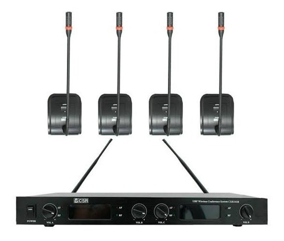 Microfone De Mesa S/ Fio Gooseneck Uhf Csr 840b I9som