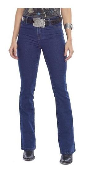 Calça Feminina Tassa Jeans Boot Cut Country Cós Alto Flare