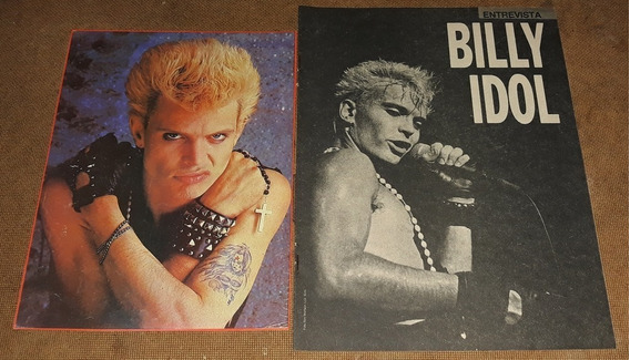 Billy Idol _ Lote 02 De Recortes Originais