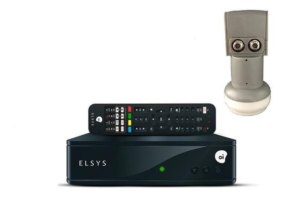 Receptor Digital Elsys Oi Tv Hd Etrs44 + Lnb Duplo Ku Uni