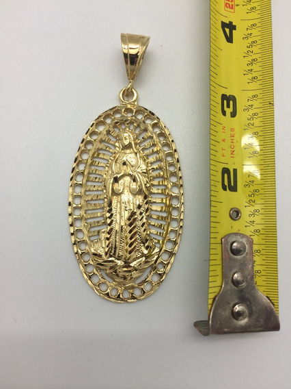 Dije De 14kt De Chapa De Oro Virgin Maria