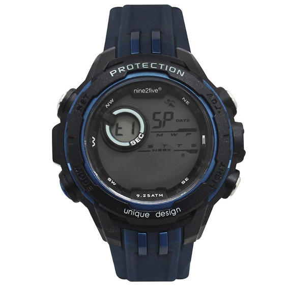 Reloj Digital Marca Nine2five Modelo: Dlal13azaz Color Azul