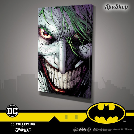 Cuadros Canvas 75x50 Dc Comics Oficial Jim Lee Batman Joker