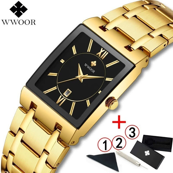 Relógio Wwoor Ouro Luxo Masculino M1