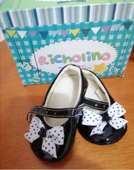 Zapatos De Bebé Niña Negro Richolino, Patentes.