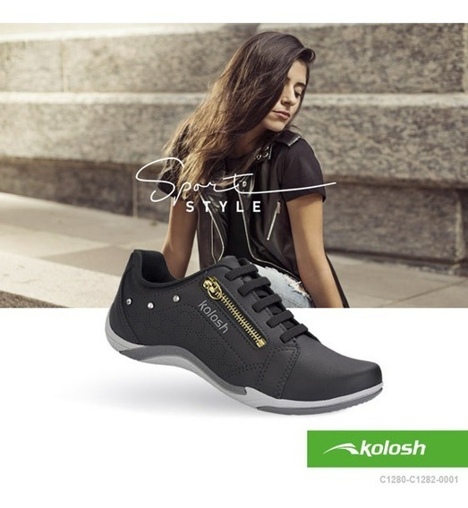 Tenis Feminino Kolosh Kls Calce Facil Confortavel Dakota