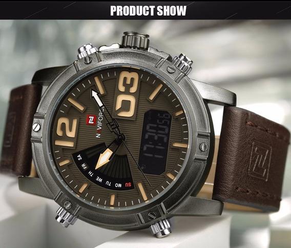 Relógio Importado De Luxo Estilo Militar - Frete Grátis!