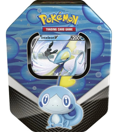 Imagem 1 de 2 de Card Game Pokémon Tcg Lata Parceiros De Galar Inteleon V