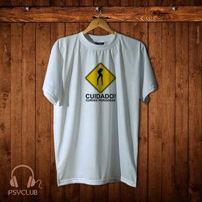 Psyclub - Camiseta Masculina Estampas Engraçadas Cuidado