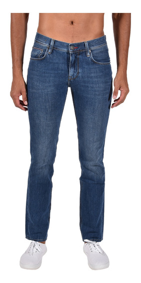 Jeans Straight Fit Tommy Azul Mw0mw05359-911 Hombre