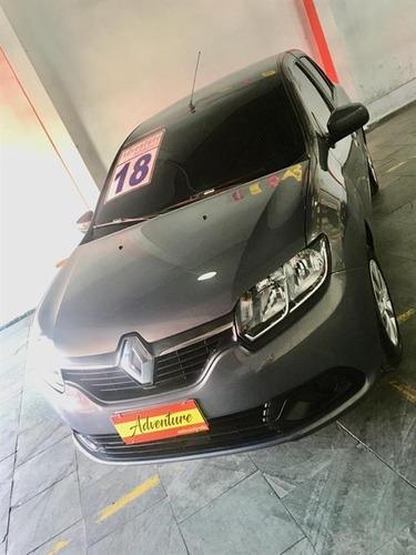 Imagem 1 de 12 de Renault Logan Expression 1.6 Ano:2018 Cinza Completo 4p