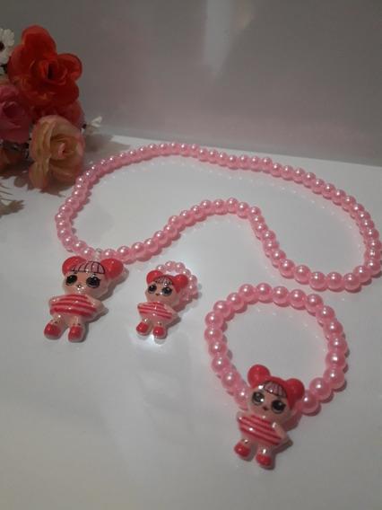Set Muñeca Lol..collar.pulsera.anillo X 10u