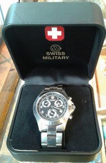 Reloj Pulsera Hombre Bucherer Chrono Swiss Military Estuche