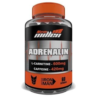 New Millen Adrenalin 60 Cps Cafeína L-carnitina Seca Barriga