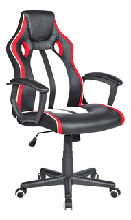 Cadeira Gamer Exeway Estofada, Preta/vermelha
