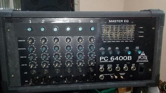 Mesa De Som Cabeçote Amplificador Ross Systems Pc6400b