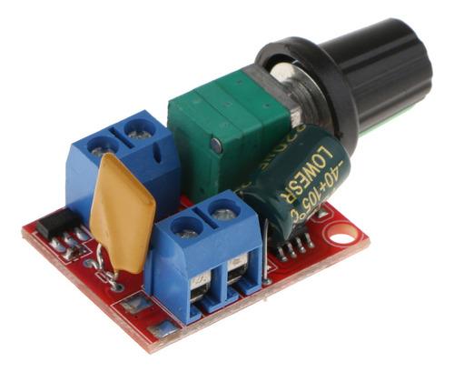 Imagen 1 de 6 de Regulador De Velocidad Pwm Motor 5a Dc 3v-35v Control Led