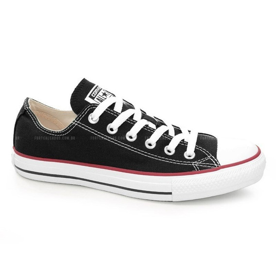 Tênis All Star Ct As Core Ox Preto Vermelho - Ct00010007