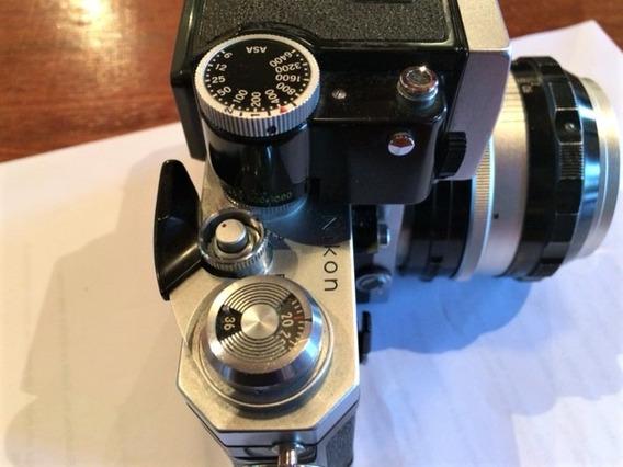Nikon F Com Estojo E Lente 50mm Nikor