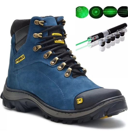 Botina Caterpillar Masculina Couro Legitimo + Laser Pointer