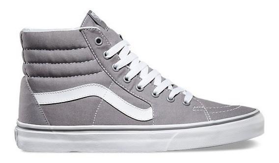 Tenis Vans Sk8-hi Frost Grey 9l50 Gris Blanco