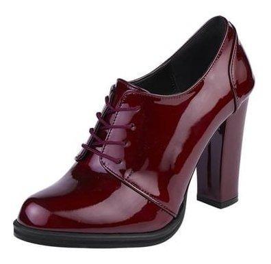 Zapato Dama Charol Zapatilla Elegante Casual 10.5 Cm Alt.