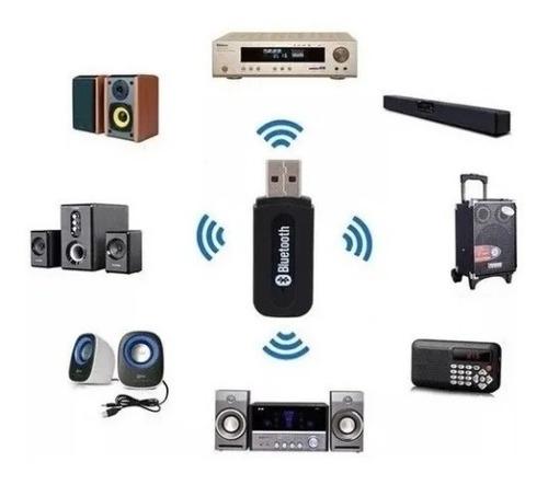 Imagen 1 de 5 de Adaptador Receptor Bluetooth Audio 3.5mm Sonido Carro Auto