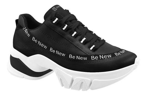 Tênis Feminino Chuncky Sneaker Ramarim Be New 2080104 Preto