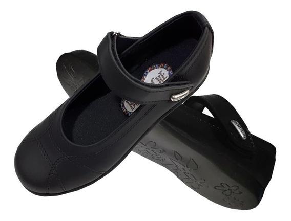 Art18 - Guillerminas Zapatos Colegiales Con Abrojo Uniforme Colegio Nenas Mujer