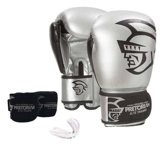 Conjunto De Boxe/muay Thai Pretorian Elite Training 16 Oz