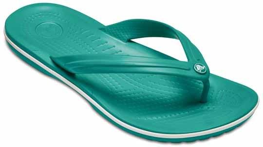 Sandalia Crocs Dama Crocband Flip Verde Aqua