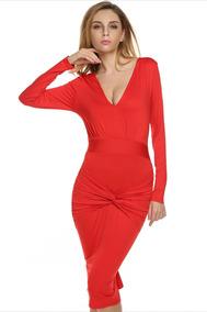 88d7d72f94 Vestido Rojo Largo Sexy - Vestidos de Fiesta Largos de Mujer en ...